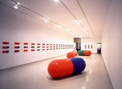 AIDS. 1987. Acrylic on canvas, 72 x 72  (182.9 x 182.9 cm
